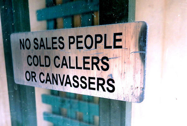 No salespeople